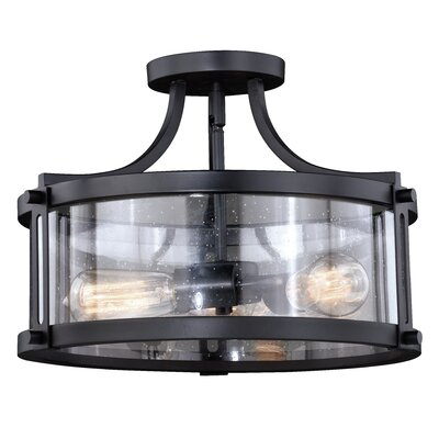 Loggins 3-Light Semi Flush Mount