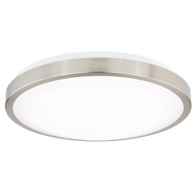 Gallucci Round 1-Light LED Flush Mount Fixture Finish: Satin Nickel, Size: 3.75 H x 11.75 W x 11.75 D