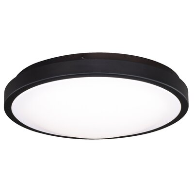 Gallucci Round 1-Light LED Flush Mount Fixture Finish: Oil Burnished Bronze, Size: 3.75 H x 11.75 W x 11.75 D