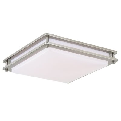 Wiliams 1-Light LED Flush Mount Fixture Finish: Satin Nickel, Size: 3.5