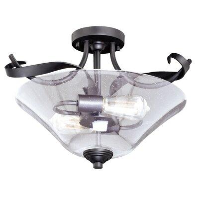 Zermeno 2-Light Semi Flush Mount