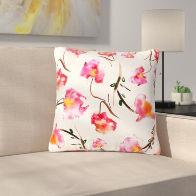Danii Pollehn Springflower Painting Outdoor Throw Pillow Size: 16 H x 16 W x 5 D