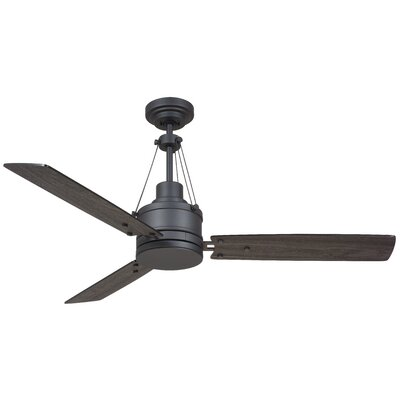 54 Hamler 3 Blade LED Ceiling Fan Finish: Graphite with Charcoal/Timber Gray