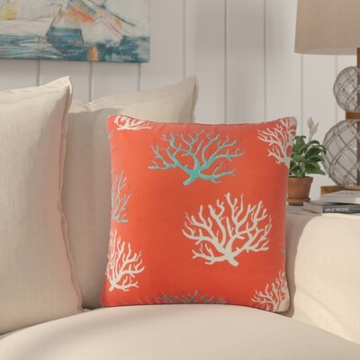 Fletcher Coastal Throw Pillow Color: Orange
