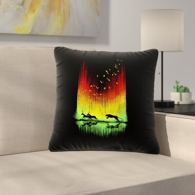 BarmalisiRTB Give Chase Digital Outdoor Throw Pillow Size: 18 H x 18 W x 5 D