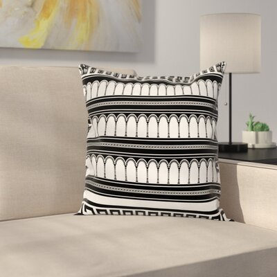 Colosseum Arch Art Square Cushion Pillow Cover Size: 20 x 20