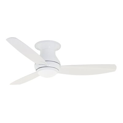 52 Imler 3 Blade Outdoor LED Ceiling Fan Finish: Appliance White, Size: 52 H x 12.6 W x 52 D