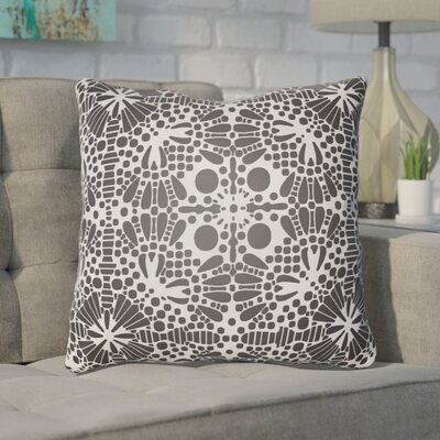 Zanuck Throw Pillow Size: 18 H x 18 W x 4 D, Color: Black