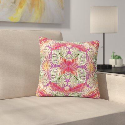 Alison Coxon Summer Jungle Love Outdoor Throw Pillow Size: 18 H x 18 W x 5 D, Color: Purple