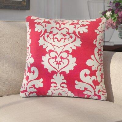 Guglielmo Damask Cotton Throw Pillow Color: Pink