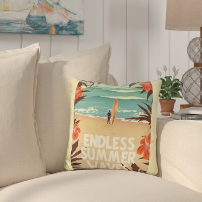 Burnett Endless Summer Waves Throw Pillow