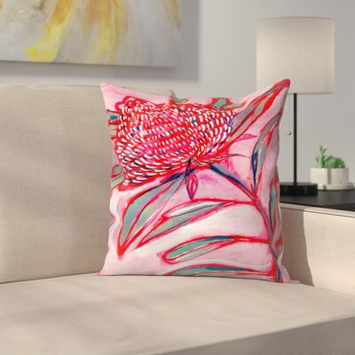 Paula Mills Botanicle No1 Throw Pillow Size: 16 x 16