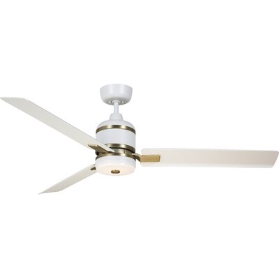 54 Hamil 3 Blade LED Ceiling Fan Finish: Satin White