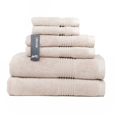 Ultimate 6 Piece Towel Set Color: Barley