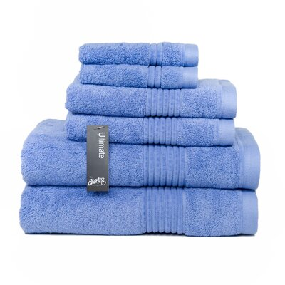 Ultimate 6 Piece Towel Set Color: Chambray