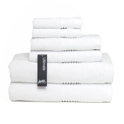 Ultimate 6 Piece Towel Set Color: White
