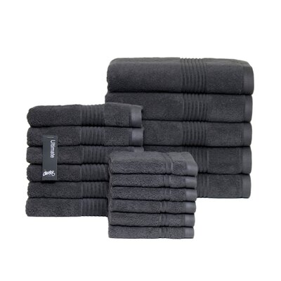 Ultimate 17 Piece Towel Set Color: Charcoal