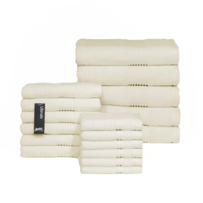 Ultimate 17 Piece Towel Set Color: Cream