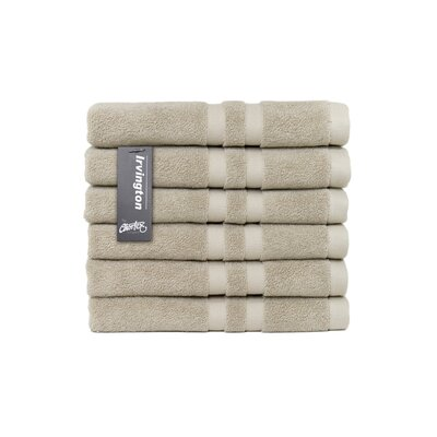Irvington Turkish Cotton Hand Towel Color: Flax