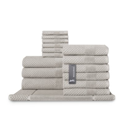 Honeycomb 16 Piece Towel Set Color: Silver