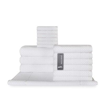 Honeycomb 16 Piece Towel Set Color: White