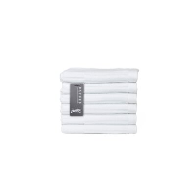 Oxford Washcloth Color: White