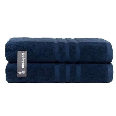 Irvington Bath Sheet Color: Navy
