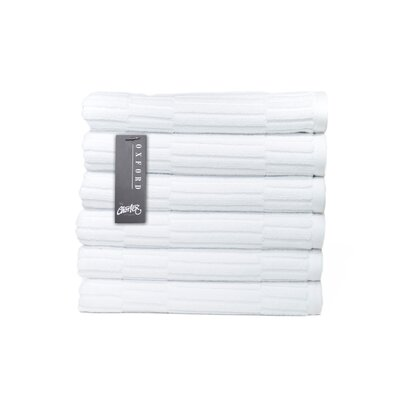 Oxford Hand Towel Color: White
