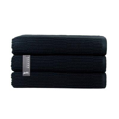 Oxford Bath Towel Color: Black