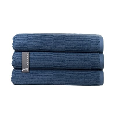 Oxford Bath Towel Color: Pale Midnight
