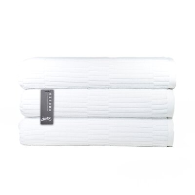 Oxford Bath Towel Color: White