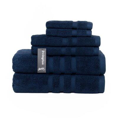 Irvington 6 Piece Towel Set Color: Navy