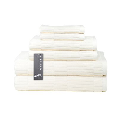 Oxford 6 Piece Towel Set Color: Almond