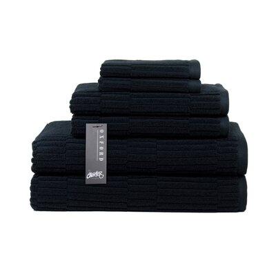 Oxford 6 Piece Towel Set Color: Black