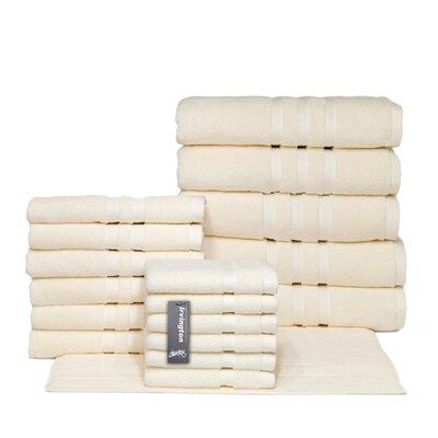 Irvington 18 Piece Towel Set Color: Cream