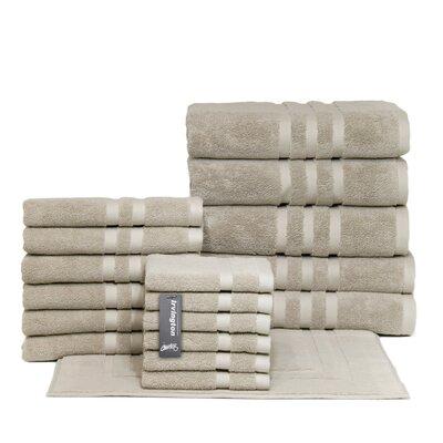 Irvington 18 Piece Towel Set Color: Flax