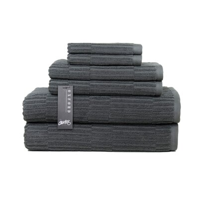 Oxford 6 Piece Towel Set Color: Dark Slate