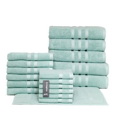 Irvington 18 Piece Towel Set Color: Mineral