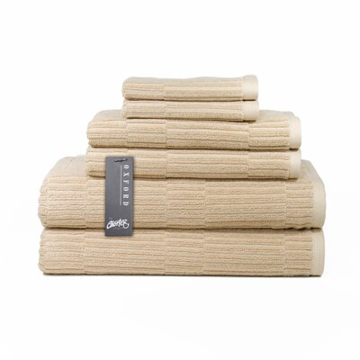 Oxford 6 Piece Towel Set Color: Linen