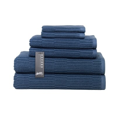 Oxford 6 Piece Towel Set Color: Pale Midnight