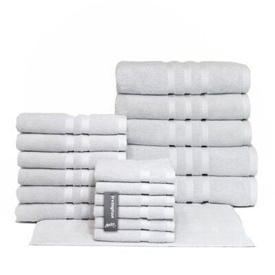 Irvington 18 Piece Towel Set Color: Silver