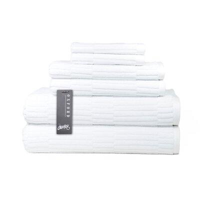 Oxford 6 Piece Towel Set Color: White