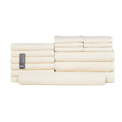 Oxford 16 Piece Towel Set Color: Almond