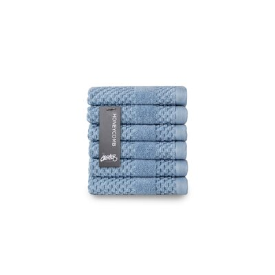 Honeycomb Washcloth Color: Blue