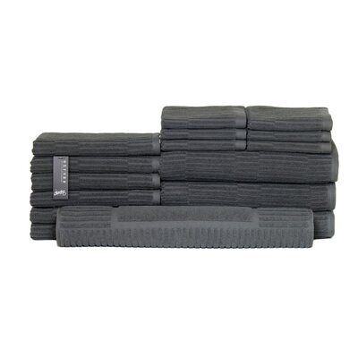 Oxford 16 Piece Towel Set Color: Dark Slate