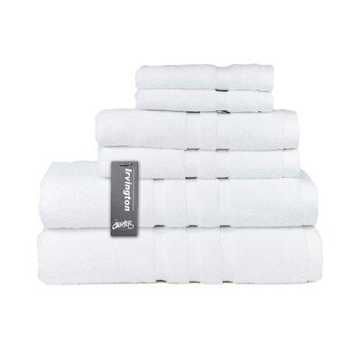 Irvington 6 Piece Towel Set Color: White