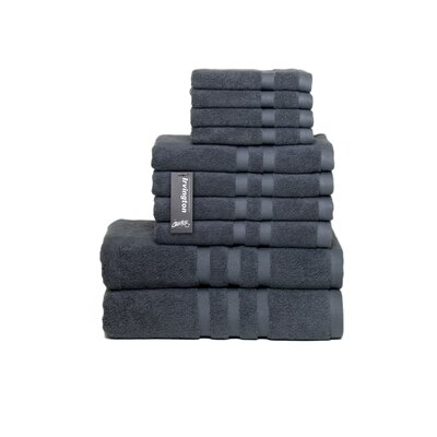 Irvington 10 Piece Towel Set Color: Charcoal