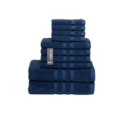 Irvington 10 Piece Towel Set Color: Navy