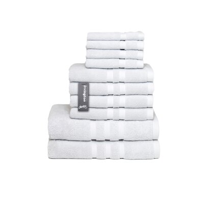 Irvington 10 Piece Towel Set Color: Silver