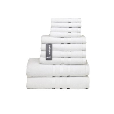 Irvington 10 Piece Towel Set Color: White